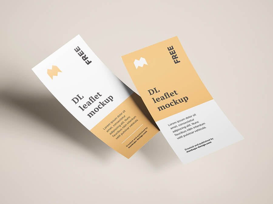 Free Flying DL Leaflets Mockup PSD Template2 (1)