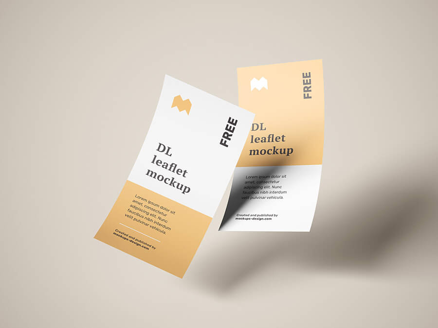 Free Flying DL Leaflets Mockup PSD Template3 (1)