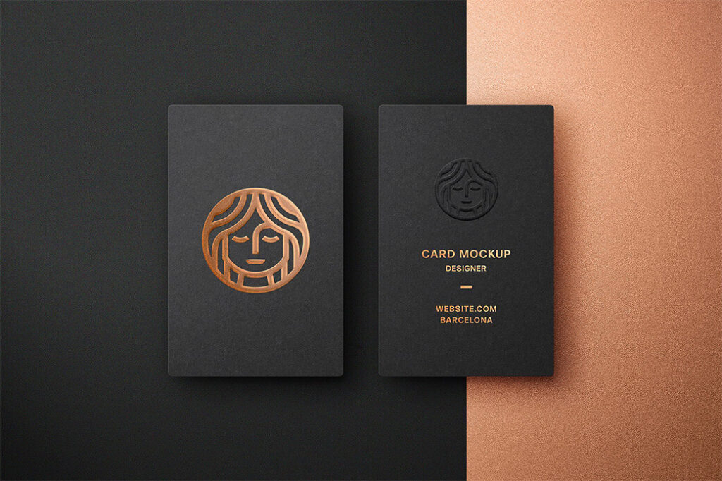 Free Foil Embossing Business Card Mockup PSD Template (1)