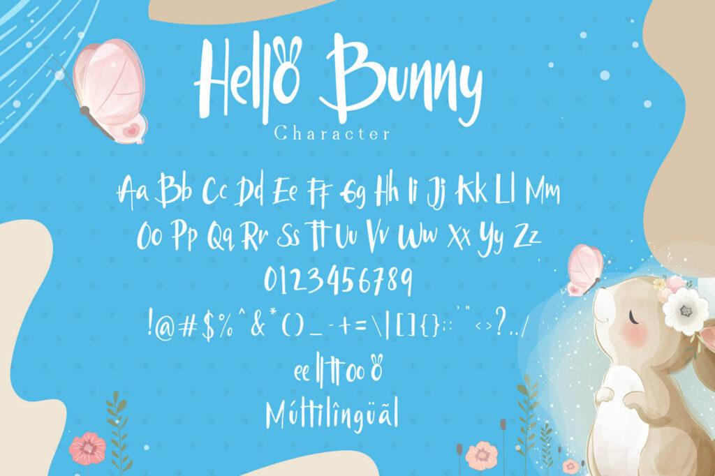 Free Hello Bunny Display Font3 (1)