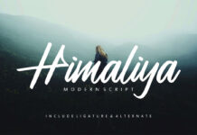 Free Himaliya Script Style Font (1)
