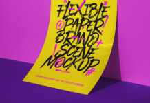Free Impressive Paper Brand Scene Mockup PSD Template (1)