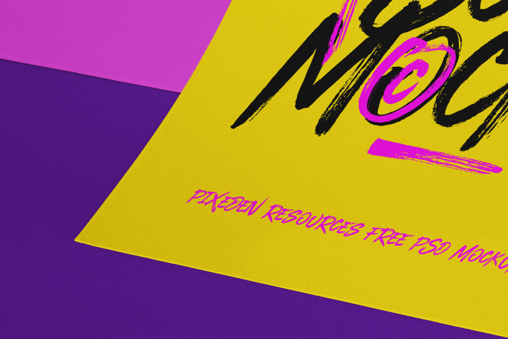 Free Impressive Paper Brand Scene Mockup PSD Template2 (1)