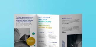 Free Impressive Tri-Fold Brochure Mockup PSD Template (1)