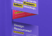 Free Incredible Business Card Scene Mockup PSD Template (1)