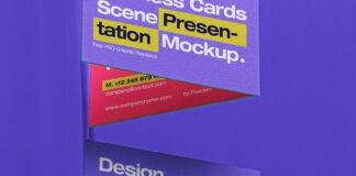 Free Incredible Business Card Scene Mockup PSD Template (1)