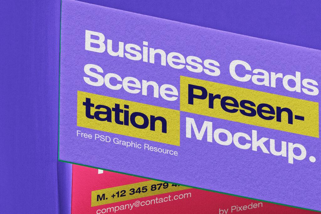Free Incredible Business Card Scene Mockup PSD Template1 (1)