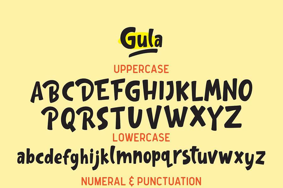 Free Inspirable Gula Playful Font Demo1 (1)