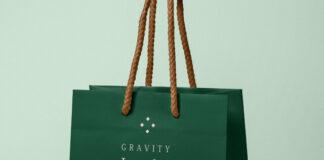 Free Jewelry Gravity Paper Bag Mockup PSD Template (1)