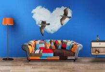 Free Living Room Wall Art Mockup PSD Template (1)