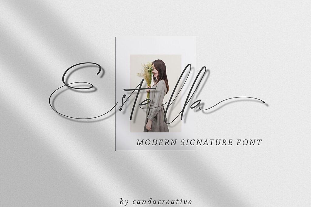 Free Luxury Hand Written Estella Script Font (1)