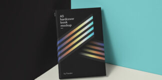 Free Modern Book Hardcover Mockup PSD Template (1)
