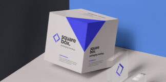 Free Modern Square Box Packaging Mockup PSD Template (1)