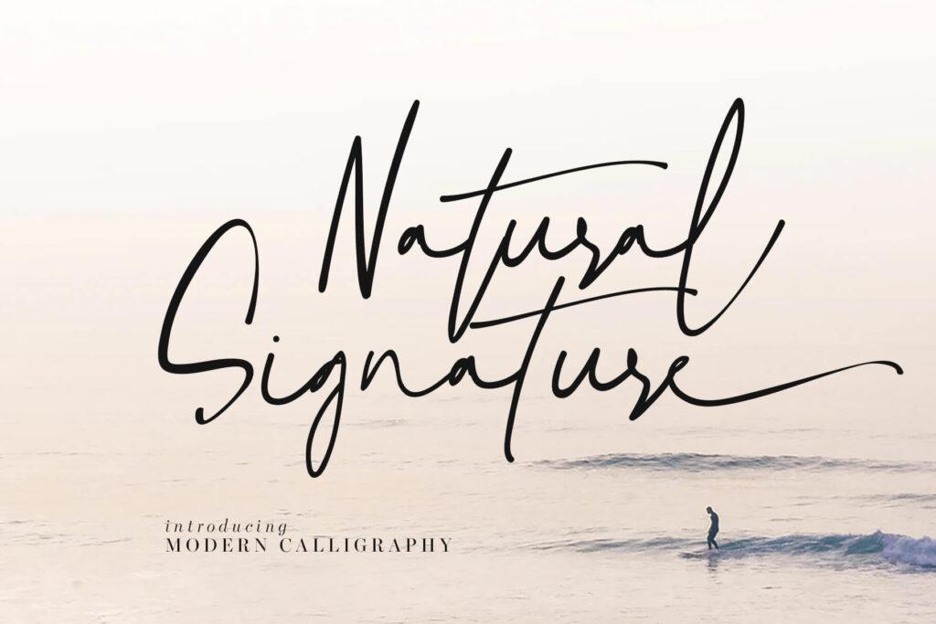 Free Natural Signature Script Font (1)