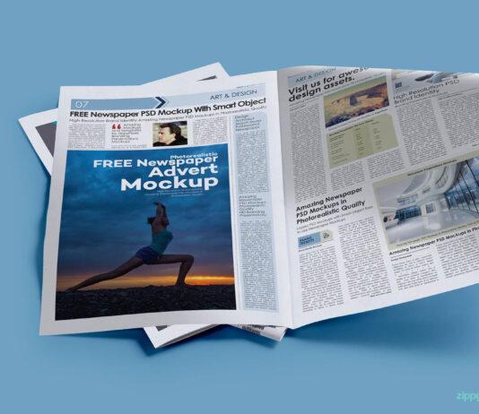 Free News Print Ad Mockup PSD Template (1)