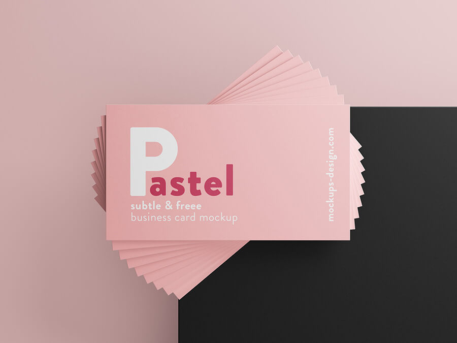 Free Pastel Business Cards Mockup PSD Template1 (1)