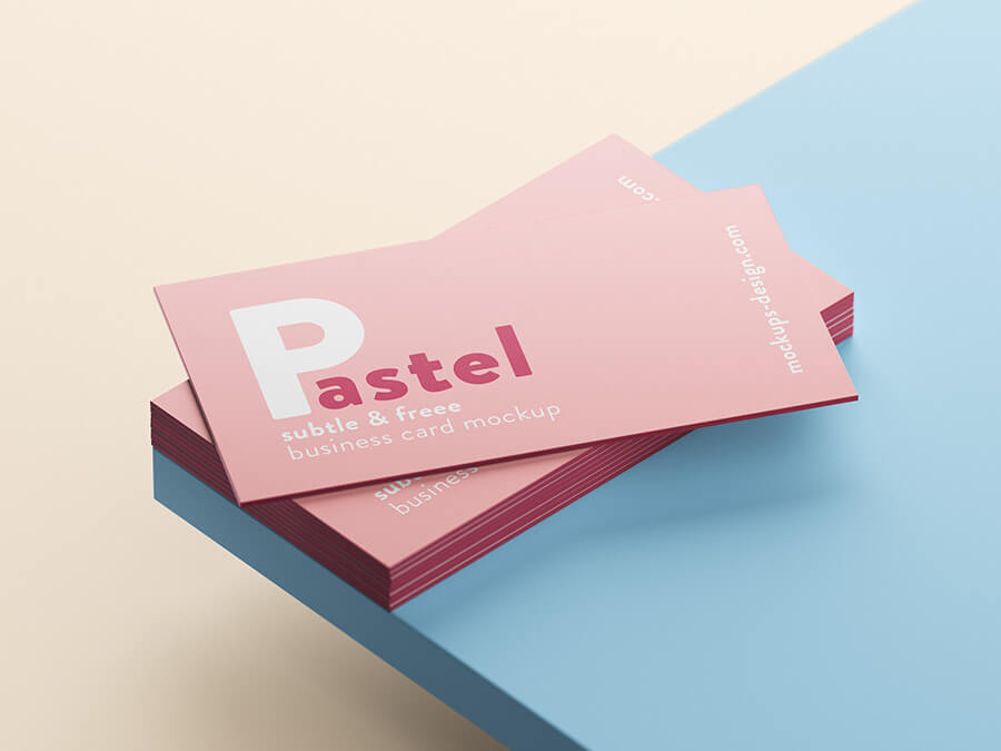 Free Pastel Business Cards Mockup PSD Template2 (1)