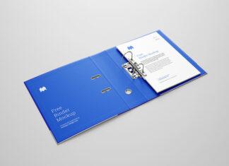 Free Perfect Blueish Binder Mockup PSD Template (1)