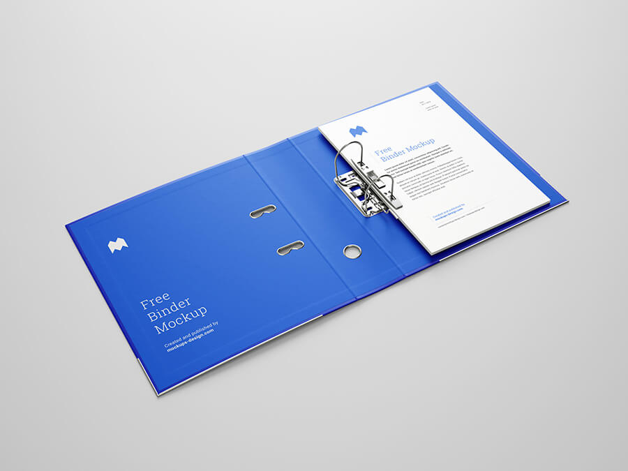 Free Perfect Blueish Binder Mockup PSD Template (1)