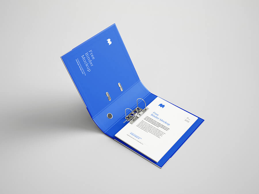 Free Perfect Blueish Binder Mockup PSD Template1 (1)