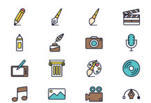 Free Photorealistic Art and Design Vector Icons (1)