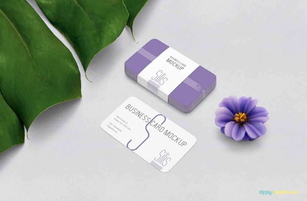 Free Presentative Business Card Mockup PSD Template (1)