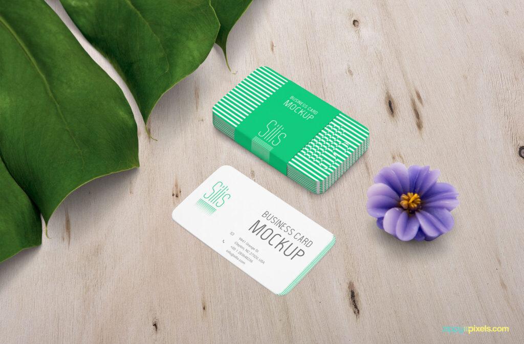 Free Presentative Business Card Mockup PSD Template2 (1)
