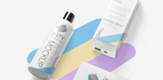 Free Presentative Customizable Bottle Mockup PSD Template (1)