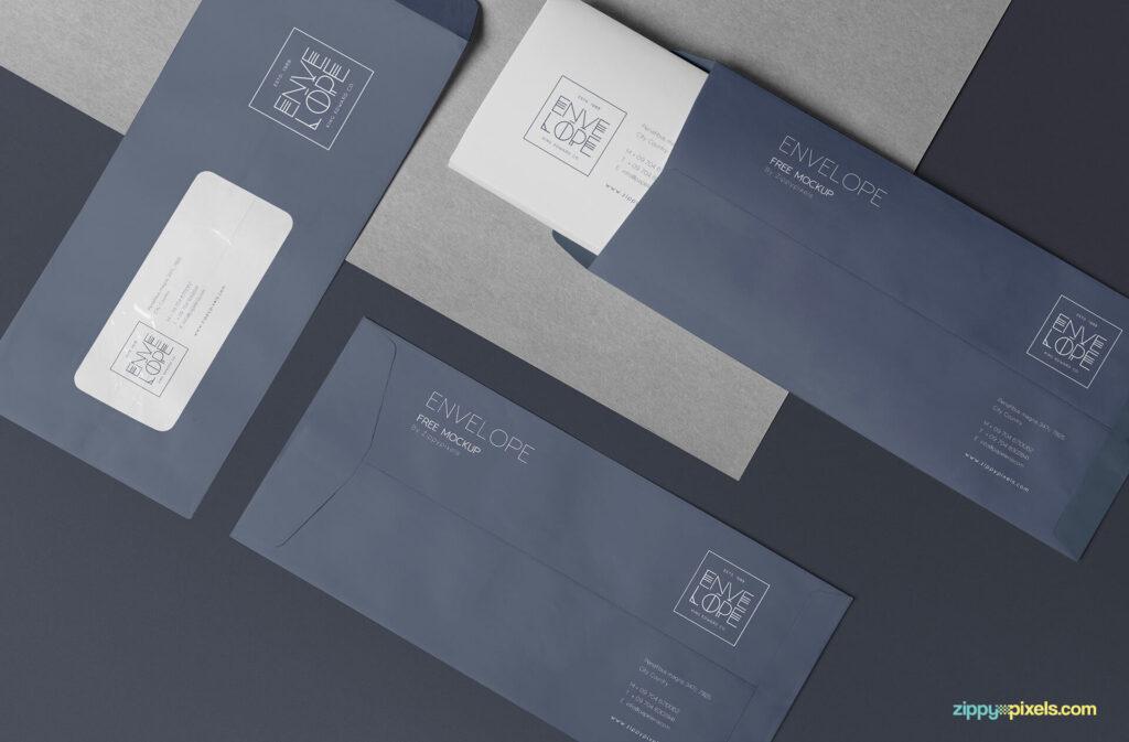 Free Professional Envelope Mockup PSD Template (1)