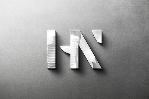 Free Reflecting Metallic Logo Mockup PSD Template1 (1)