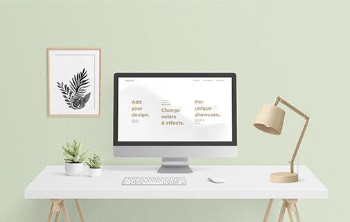 Free Scandi Vanilla MacBook & IMac Mockup Set PSD Template2 (1)