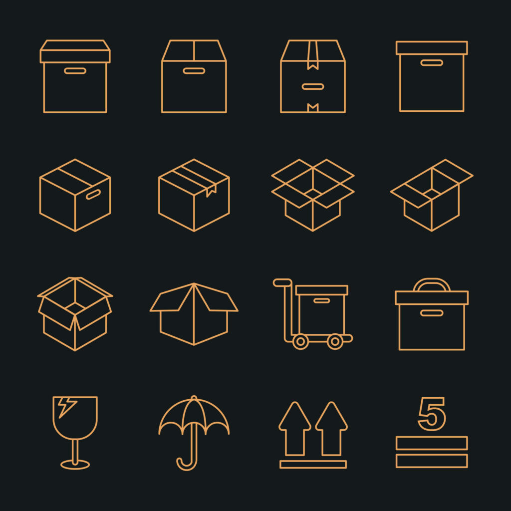 Free Set Of Box Packaging Vector Icons1 (1)
