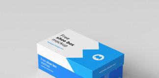 Free Shoe Box Mockup PSD Template (1)