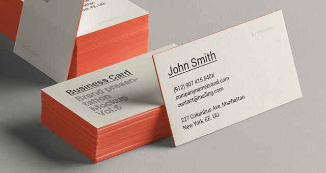 Free Side Viewed Business Card Brand Mockup PSD Template (1)