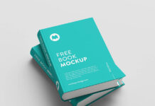 Free Sky Blue Thick Book Mockup PSD Template1 (1)
