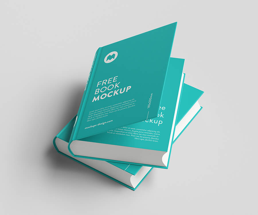 Free Sky Blue Thick Book Mockup PSD Template2 (1)