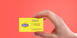 Free Sleek Hand Holding Business Card Mockup PSD Template (1)