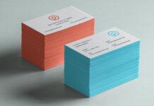 Free Smart Layered Business Card Brand Mockup PSD Template (1)