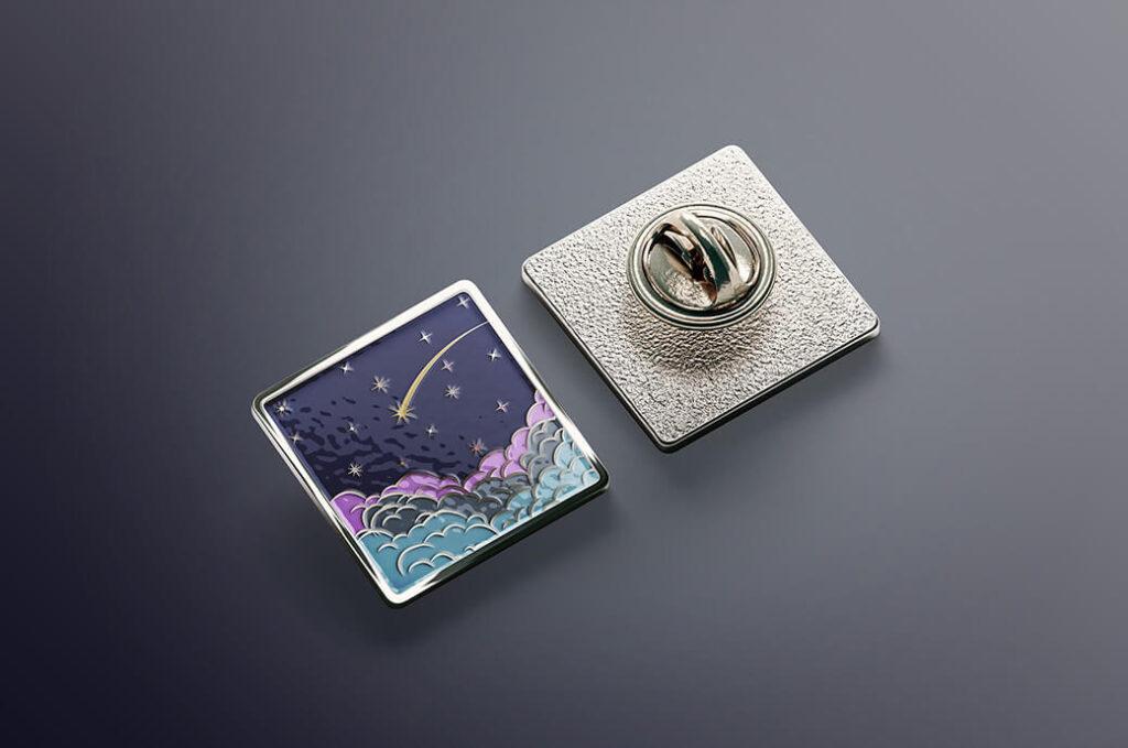 Free Square Enamel Pin Mockups Set PSD Template (1)