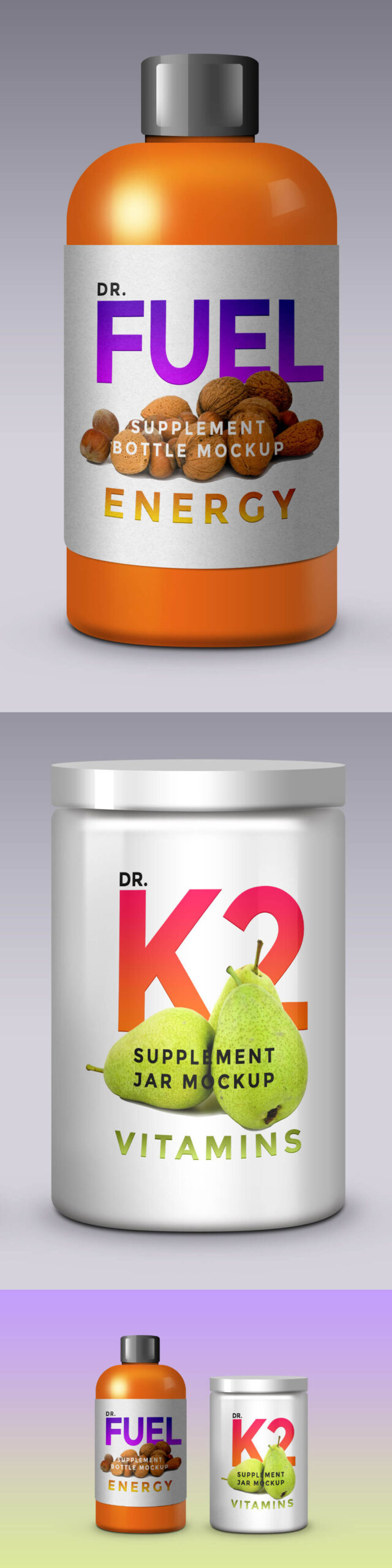 Free Supplement Product Packaging Mockup PSD Templates (1)