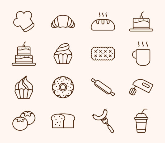 Free Tasty Cake and Bakery Vector Icons (1)