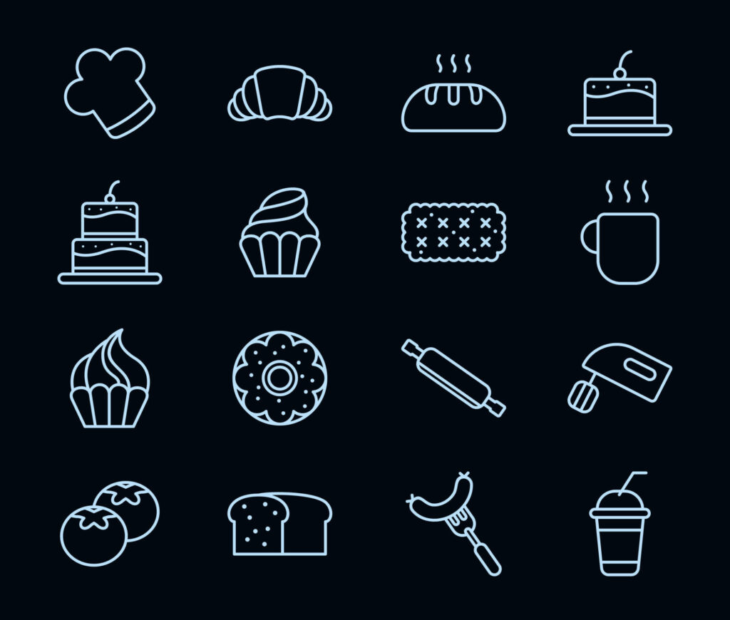 Free Tasty Cake and Bakery Vector Icons1 (1)