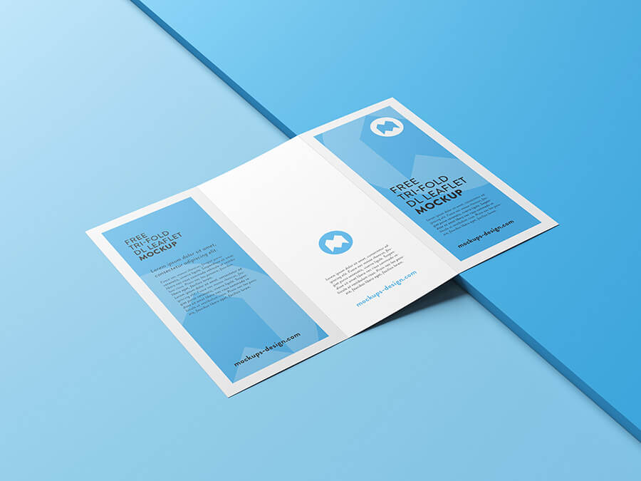 Free Tri-Fold Leaflet Mockup PSD Template (1)