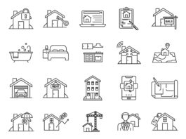 Free Versatile Real Estate Vector Icons (1)