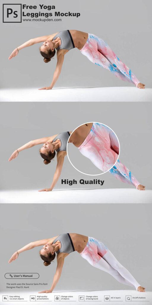 Free Yoga Leggings Mockup PSD Template
