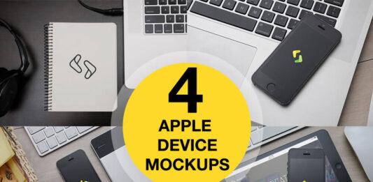 Free iPhone 5, iPad and Macbook Mockups PSD Templates (1)