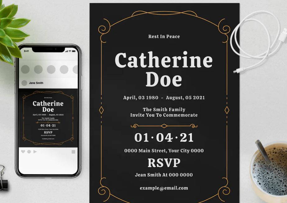 Funeral Invitation