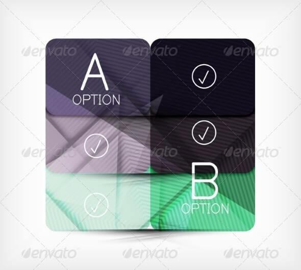 Geometric Shaped Option Banner Design Template (2)