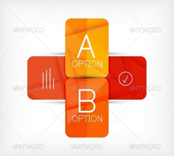 Geometric Shaped Option Banner Design Template (3)