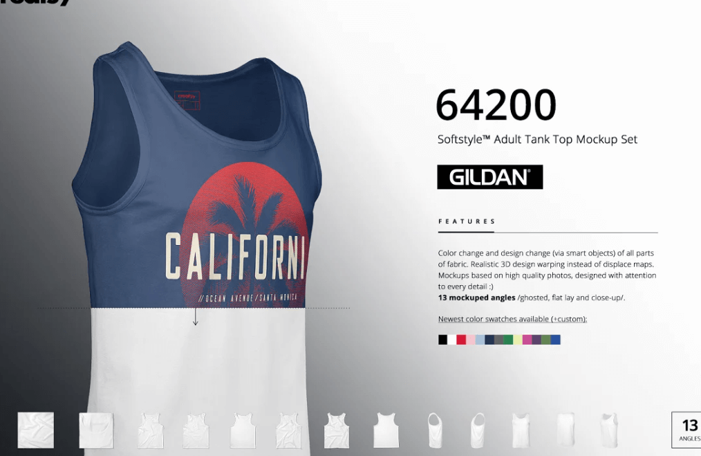 Gildan 64200 Tank Top Mockup Set